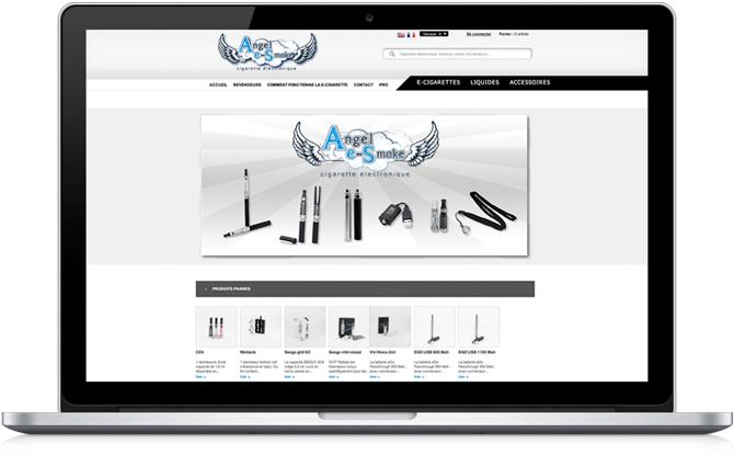 Création de site boutique Angel e-Smoke