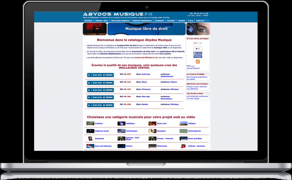 Site concept abydos musique